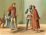 Prince Edward, the Black Prince, and King Charles' messengers