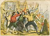 Judge Jefferies beaten by the mob