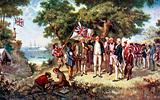 Captain Cook taking possession of New South Wales in the name of Britain