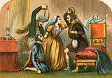 Murder of David Rizzio in the presence of Mary Stuart