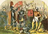 Richmond crowned after the battle of Bosworth Field