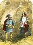 Margaret of Anjou and her son meeting the robber in the wood