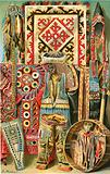 Culture of the Mongols: Fabrics and designs