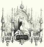 Illustration for the opera La Juive by Fromental Halevy