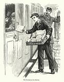 The Newsboy at the Station
