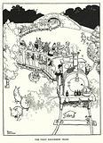 Illustration for Railway Ribaldry by W Heath Robinson