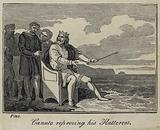 Canute reproving his Flatterers