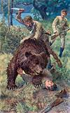 Old Jake, leaping astride the bear, drove his sharp knife home