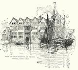 View of Cold Harbour, in Thames Street, about 1600