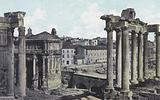 Remains of the Roman Forum, Temple of Saturn