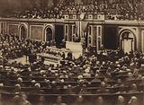 America in World War I: At 8:30 o'clock in the evening of April 2, 1917, President Wilson appeared in person before Congress sitting in joint session, and read his message recommending that a state of war be declared to exist between the United States and