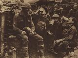 America in World War I: The Germans left this trench near Consonvoye so hurriedly that 33d Division men, hot on their …