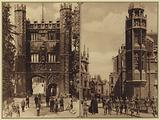 America in World War I: Great Gate, Trinity College, Cambridge University, England, May 20, 1919, Dr FO Murray, of …