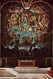 Palazzo del Vaticano, Cappella Sistina, Giudizio Finale, affresco di Michelangelo, Vetican Palace, Sixtine Chapel, …
