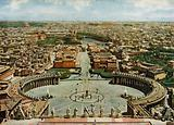 Veduta generale dal terrazzo della Cupola di San Pietro, General View from the Roof of St Peter's Dome