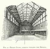 Tennis Court, looking towards the Dedans