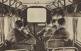 A picture show aboard an Imperial Airways Liner