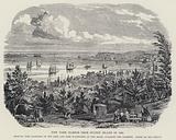 New York Harbor from Staten Island in 1850