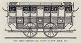 The First Street Car, built in New York, 1831