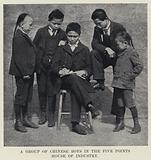 A Group of Chinese Boys in the Five Points House of Industry
