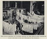 The Usual Method of Clothes Drying in the Sweat-Shop Districts