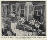 Children of Sweat-Shop Workers posing for the Photographer on the Fire Escapes
