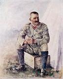 Lieutenant-General Hector Macdonald outside Bloemfontein