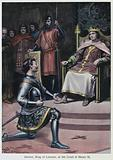 Dermot, King of Leinster, at the Court of Henry II