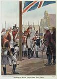 Hoisting the British Flag at Cape Town, 1815