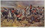 Gordons and Greys to the Front at Waterloo