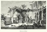 Roman Emperor Tiberius on the island of Capri