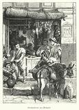 Street scene in the ancient Roman town of Pompeii