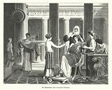 Dressing room of a noble woman of ancient Rome