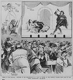 Performance of a play in Yiddish at the Oriental Working Men's Club, Vine Court, Whitechapel, London, 1891