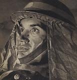 British air raid warden during the Blitz, World War II, 1940-1941