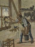 The shoemaker marked the hours on the figure of the little Jeannot