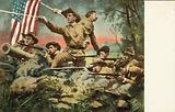 American soldiers fighting in the Spanish-American War, 1898