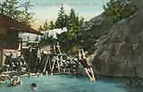 Bathing, Hot Sulphur Springs, Banff, Alberta, Canada
