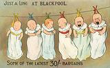 Babies on a washing line at Blackpool