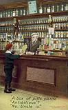 Boy buying pills in a chemist's shop