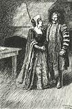Margaret Roper, eldest daughter of Sir Thomas More, visiting her father in prison, 1535