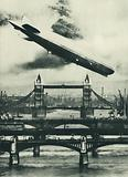 German airship Graf Zeppelin over London