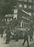 The first motor bus in Paris, France