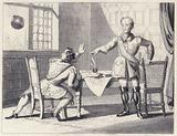 Charles 12th dictating to his Secretary