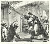 Miraculous Fire consuming Solomon's Sacrifice at the Dedication of the Temple