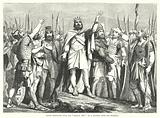 """David rejoicing with his """"Mighty Men"""" at a Victory over his Enemies"""
