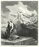 Daniel touched by an Angel while praying, Daniel IX, 21