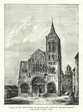Facade of the Abbey Church of the Magdalen, where St Bernard preached the Second Crusade, 1146