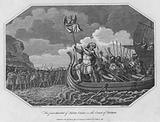 The first descent of Julius Caesar on the Coast of Britain