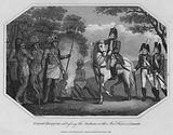 General Burgoyne addressing the Indians at their War Feast, in Canada